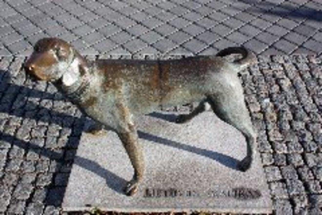Lithuanian Hound sculpture