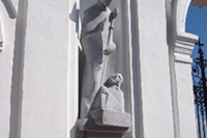 Sculptures in the Hall of Honor of Telšiai Cathedral
